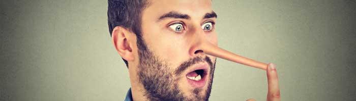 Etikette beim Online-Dating Lügen